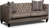Living Room Furniture-Darcy Taupe Sofa