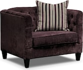 Living Room Furniture-Darcy Violet Chair and a Half