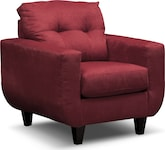 Living Room Furniture-Walker Red Chair