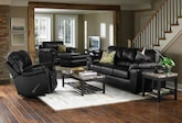 Living Room Furniture-The Henson Black Collection-Henson Black 3 Pc. Living Room