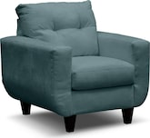 Living Room Furniture-Walker Blue Chair