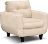 Living Room Furniture-Walker Cream Chair