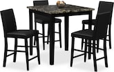Dining Room Furniture-Talbot II 5 Pc. Counter-Height Dinette