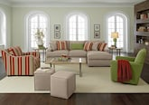 Living Room Furniture-The Nantucket Stripe Collection-Nantucket Stripe 2 Pc. Sectional