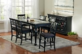 Dining Room Furniture-The Hampden Black Collection-Hampden Black Counter-Height Table