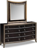 Bedroom Furniture-Boudreau Dresser & Mirror