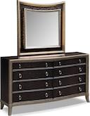 Bedroom Furniture-Boudreau Dresser & Mirror