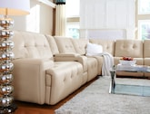 Living Room Furniture-The Willis Wheat Collection-Willis Wheat 5 Pc. Power Reclining Sectional