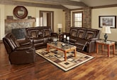 Living Room Furniture-The Ketchum Collection-Ketchum Dual Reclining Loveseat