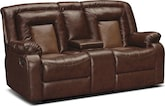 Living Room Furniture-Ketchum Dual Reclining Loveseat