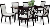 Dining Room Furniture-Brighton Pearl 7 Pc. Dinette
