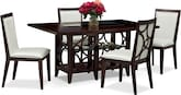 Dining Room Furniture-Brighton Pearl 5 Pc. Dinette