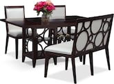 Dining Room Furniture-Brighton Pearl 4 Pc. Dinette