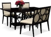 Dining Room Furniture-Brighton Parchment 4 Pc. Dinette