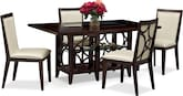 Dining Room Furniture-Brighton Parchment 5 Pc. Dinette