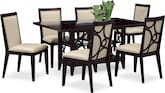 Dining Room Furniture-Brighton Parchment 7 Pc. Dinette