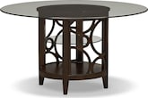 "Dining Room Furniture-Brighton II Pearl 54"" Dining Table"