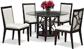"Dining Room Furniture-Brighton II Pearl 5 Pc. Dinette (48"" Table)"