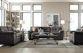 Living Room Furniture-The Revere Gray Collection-Revere Gray Sofa