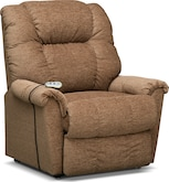 Living Room Furniture-Oberlin Medium Power Lift Massage Chair