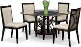 "Dining Room Furniture-Brighton II Parchment 5 Pc. Dinette (60"" Table)"