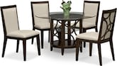 "Dining Room Furniture-Brighton II Parchment 5 Pc. Dinette (48"" Table)"