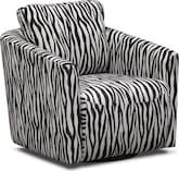 Living Room Furniture-Kimba Black Swivel Chair