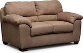 Living Room Furniture-Henson Camel Loveseat