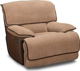 Living Room Furniture-Putnam Camel Glider Recliner