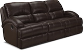 Living Room Furniture-Easton Chocolate Dual Reclining Sofa