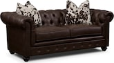 Living Room Furniture-Marquette Chocolate Apartment Sofa