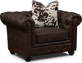 Living Room Furniture-Marquette Chocolate Chair