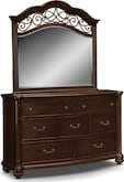 Bedroom Furniture-Lowell Dresser & Mirror