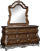 Bedroom Furniture-Velasquez Burl Dresser & Mirror