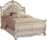 Bedroom Furniture-Velasquez Linen Queen Bed