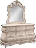 Bedroom Furniture-Velasquez Linen Dresser & Mirror