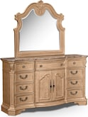 Bedroom Furniture-Lafayette Almond Dresser & Mirror
