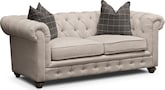 Living Room Furniture-Marquette Beige Apartment Sofa