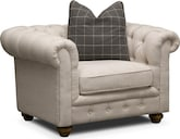 Living Room Furniture-Marquette Beige Chair