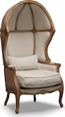 Living Room Furniture-Marquette Beige Dome Accent Chair
