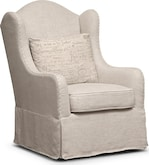 Living Room Furniture-Marquette Beige Accent Chair