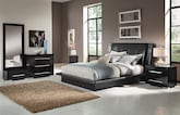 Bedroom Furniture-Prima Black 6 Pc. King Bedroom (Alternate)