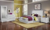 Bedroom Furniture-Prima II White 6 Pc. King Bedroom (Alternate)