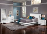 Bedroom Furniture-Prima White 6 Pc. Queen Bedroom (Alternate)