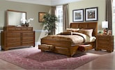 Bedroom Furniture-Hereford 6 Pc. King Storage Bedroom