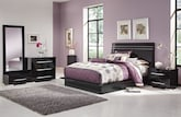 Bedroom Furniture-Prima II Black 6 Pc. Queen Bedroom (Alternate)