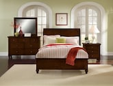 Kids Furniture-The Laurel II Cherry Collection-Laurel II Cherry Twin Bed