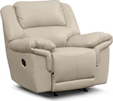Living Room Furniture-Farrell Almond Rocker Recliner