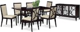 Dining Room Furniture-The Luna Parchment Collection-Luna Pearl Dining Table