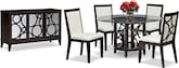 "Dining Room Furniture-The Luna Pearl II Collection-Luna Pearl II 60"" Dining Table"